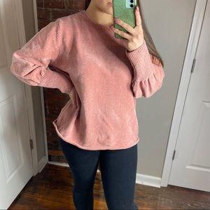 She + Sky bishop sleeve sweater M